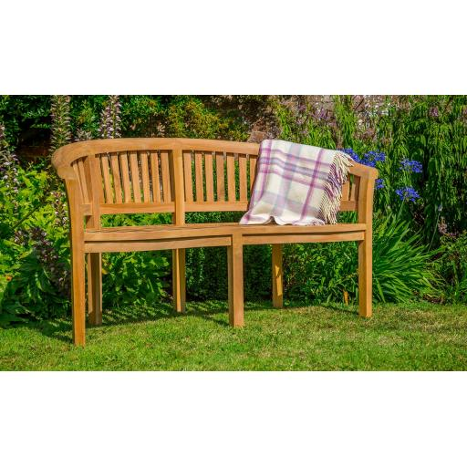Broadway Banana Teak Bench