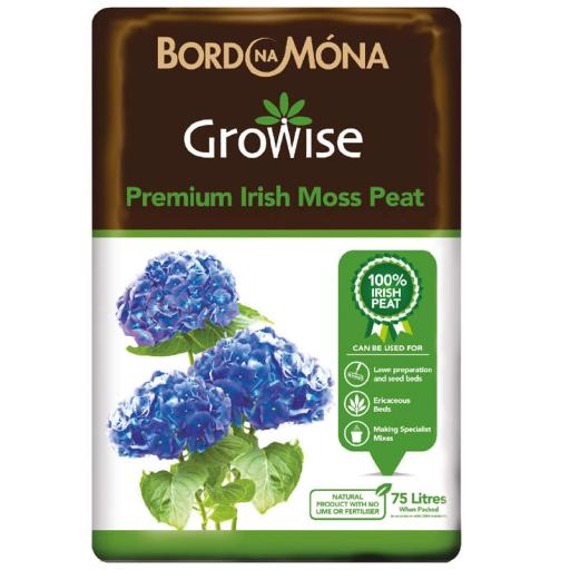 Growise Irish Moss Peat 75litre