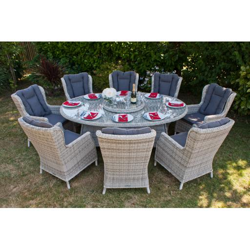 Manhattan 210cm Elliptical Dining Set with Wing Backs (1).jpg