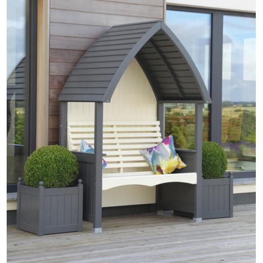 Cottage Arbour Charcoal & Cream