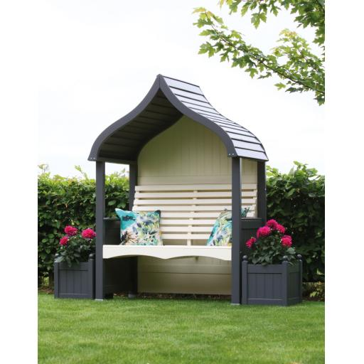Orchard Arbour Charcoal & Cream