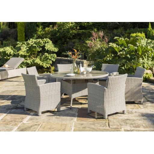 Palma 6 Seat Dining Set with Lazy Susan