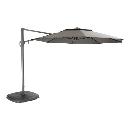 3.3m Cantilever Parasol with LED lights and Wireless Speaker Taupe