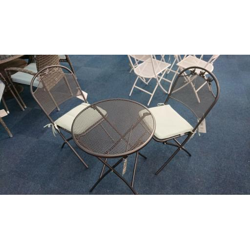 Marlow Bistro Set Grey