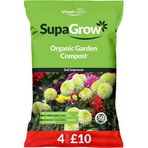 Growise Organic Garden Compost 4 for £10