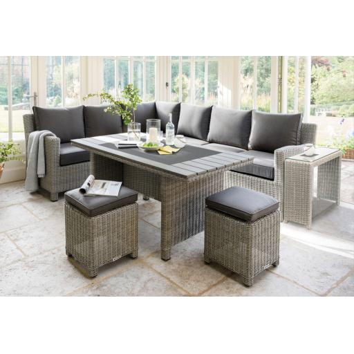 Palma Casual Dining Corner Set with Polywood Table