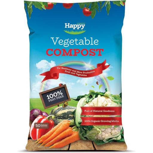 Happy Compost Vegetable Peat Free 50litre