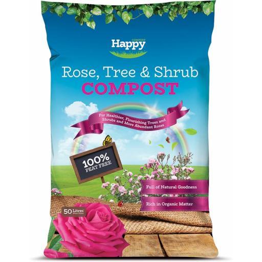 Happy Compost Rose Tree & Shrub Peat Free 50litre