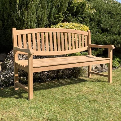 3 Seat Oval Bach Teak Bench