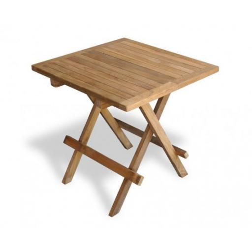 Square Waffle Picnic Side Table Teak