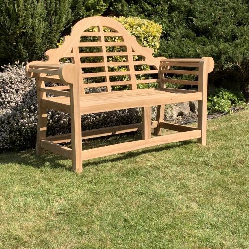 2 Seat Lutyens Teak Bench