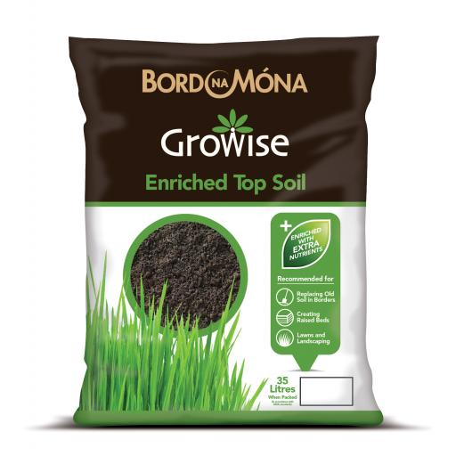 Growise Enriched Topsoil 4 for £10 35litre