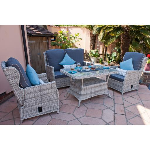 Manhattan Highback Reclining 4 Seater Set