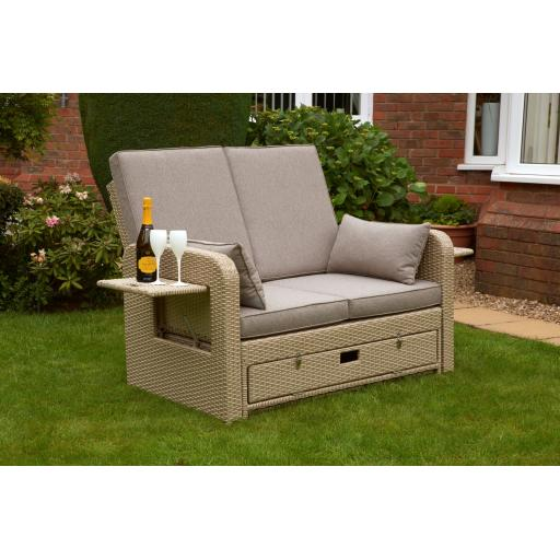 Amiens Twin Seat Sun Lounger