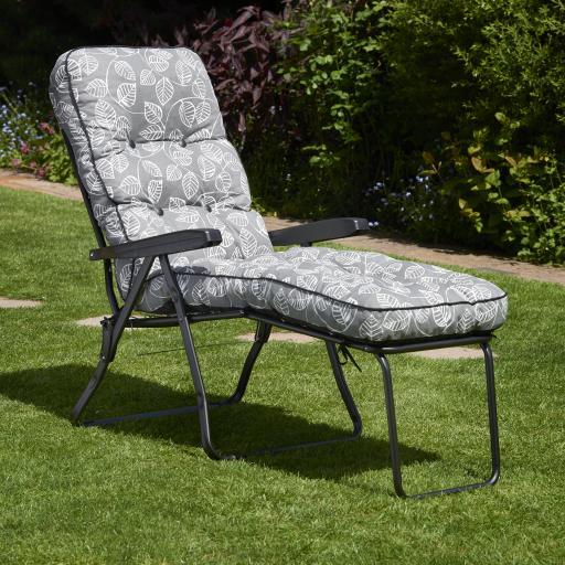 Deluxe Lounger - Aspen Leaf Grey