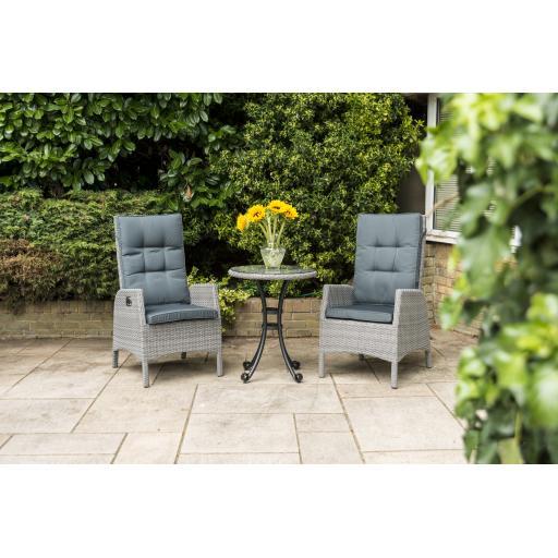 Chatsworth Reclining Bistro Set - Grey