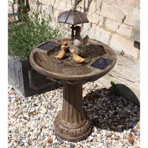 Solar Duck Family Fountain