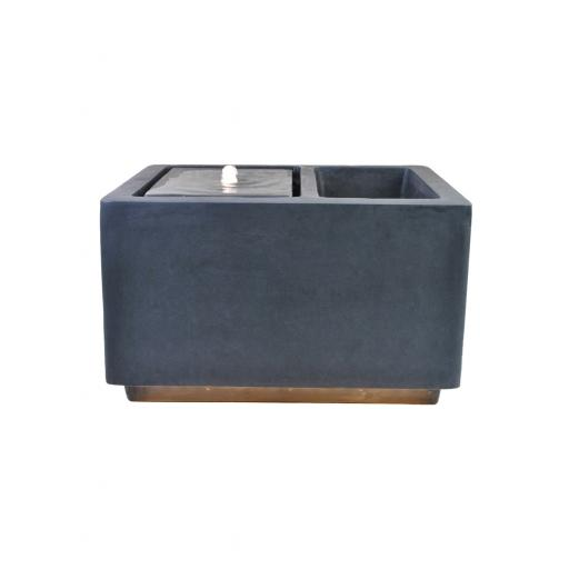 Contemporary LED Cube Water Feature with Planter Granite