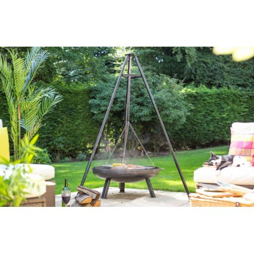 Tripod with Hanging Grill