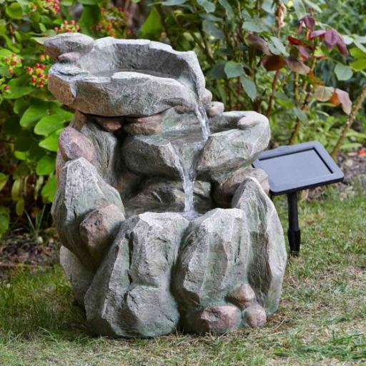 Solar Rock Fall Fountain